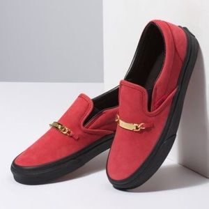Vans red hot chili pepper slip on shoes